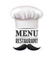 menu restaurant design vector image vector image
