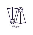 icon of diving flippers on a white vector image