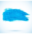Blue paint texture stain vector image
