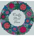 color floral frame pattern vector image