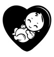 baby icon simple black style vector image