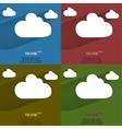 color set Cloud download application web icon flat vector image