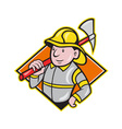 Fireman Firefighter Emergency Worker vector image