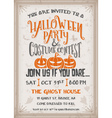 Halloween party and costume contest Invitation vector image