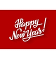 Happy New Year Holiday lettering on red vector image
