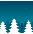 pine trees during winter vector image