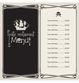 Pirate menu vector image