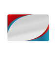 red and blue silver business card design vector image