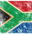 Republic of South Africa retro flag vector image