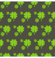 St Patrick Day clover seamless pattern vector image