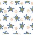 tortoise decorative seamless pattern vector image