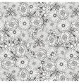 Unique pattern with doodle flowers vector image