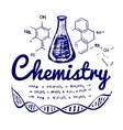 Hand drawn chemistry vector image vector image