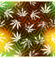 rastafarian grunge hemp leaves vector image