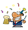 Businessman celebrating cartoon vector image vector image