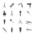 Hairdresser Icons Set vector image