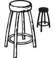 Wood stool vector image vector image