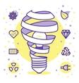 lightbulbs icons vector image