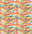 Rough brush colorful zigzag strips vector image vector image