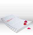 love letter paper vector image