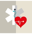colorful medical care design vector image