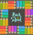 Back to school banner with pensils and lettering vector image