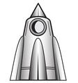 Cartoon space craft vector image