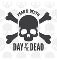 Day of the dead print Skull and bones logo or vector image