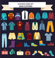 Fashion collection of man wardrobe vector image