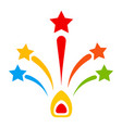 star fireworks flat icon vector image