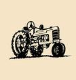 Vintage tractor design vector image