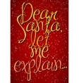 Vintage typography Christmas poster vector image vector image