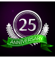 Twenty five years anniversary celebration with vector image
