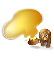A pot of honey and a brown bear vector image vector image