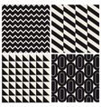 geometric pattern background set vector image