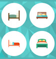 flat bed set of furniture bearings bed and other vector image
