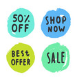 set of sale buttons vector image