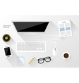 white workspace vector image
