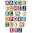Colorful retro alphabet vector image vector image