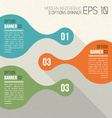 3 Option Banners retro infographic vector image