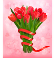 Valentines holiday background with bouquet of pink vector image vector image