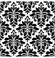 Black floral damask seamless pattern vector image vector image