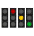 traffic light 01 vector image vector image