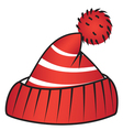 Hat with pompom vector image vector image
