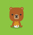 Cute bear with honey vector image