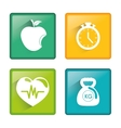 Fitness and healthy lifestyle vector image
