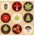 Forest and nature icons vector image