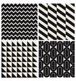 Geometric pattern background set vector image