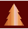 Gold And Red Christmas Tree Icon vector image