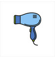 hairdryer icon sign on white background vector image